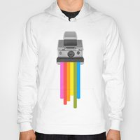 gray Hoodies featuring Taste the Rainbow by Zeke Tucker
