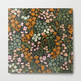 Night in the flowered meadow Metal Print