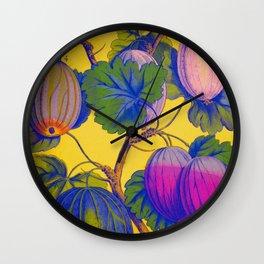 Gooseberries on Yellow Wall Clock