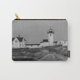 Eastern point Lighthouse Black and White aug2017 Carry-All Pouch