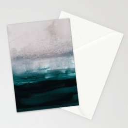 pale pink over dark teal Stationery Cards
