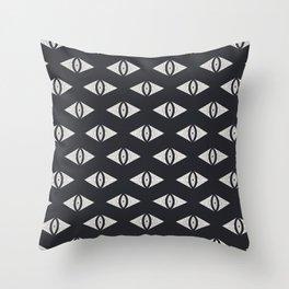 Geometric Eye (Black) Throw Pillow