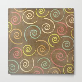 pattern grundgy swirls Metal Print