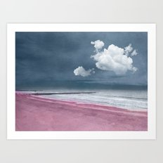 LONELY BEACH Art Print