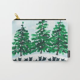 Veneto Whimsical Cats and Trees Carry-All Pouch