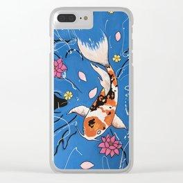 Splash of Koi Clear iPhone Case