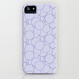 Purple Circles Concentric Polygons iPhone Case