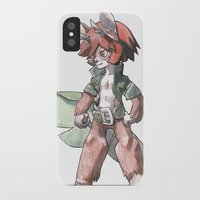furry iPhone & iPod Cases featuring furry by Joël Jurion