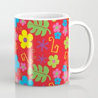 hawaiian Mugs featuring Hawaiian Shirt by steckfigures