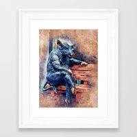 taurus Framed Art Prints featuring Taurus by jbjart
