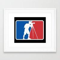 league Framed Art Prints featuring Landscape League by Preston Lee Design