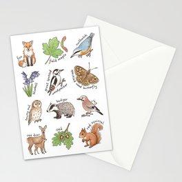 British Woodland Wildlife Stationery Cards