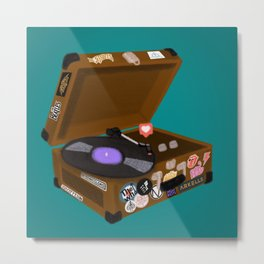 Music Transports You Metal Print
