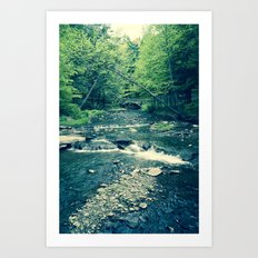 Follow Peaceful Waters Art Print
