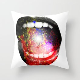 OVERFLOW. Throw Pillow