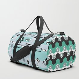 Art Deco Swimmers Duffle Bag