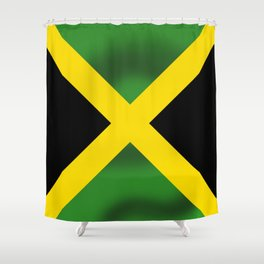 Jamaican Flag Shower Curtain