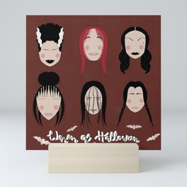 Women of Halloween- Fired Brick Mini Art Print