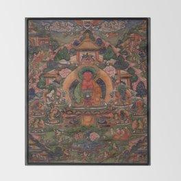 Buddha Amitabha in His Pure Land of Suvakti Throw Blanket