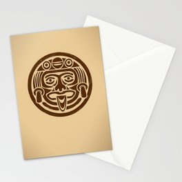 Mayan Face Stationery Cards