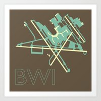 50s Art Prints featuring Baltimore-Washington (BWI) - 50s by Kyle Rodgers