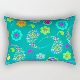 Green Paisley № 5 Rectangular Pillow