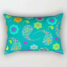 Green Paisley № 5 Rectangular Pillow