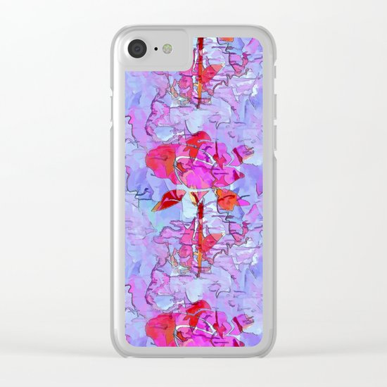 Regal Rose Clear iPhone Case