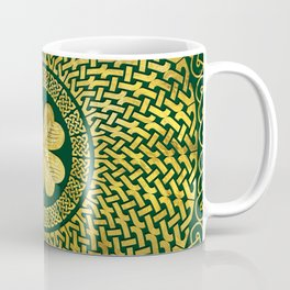 Irish Four-leaf clover with Celtic Knot Coffee Mug