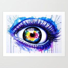 """Window to your galaxy"" Art Print"