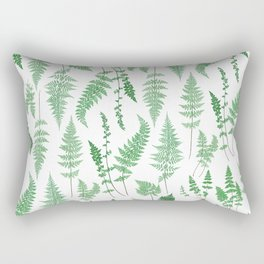 Ferns on White I - Botanical Print Rectangular Pillow