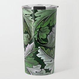 Art Nouveau William Morris Green Acanthus Leaves Travel Mug
