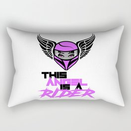 This Angel is a Rider Rectangular Pillow