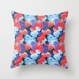 Beautiful vector illustration pattern of colorful abstract Throw Pillow