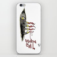 resident evil iPhone & iPod Skins featuring Resident Evil Pop Art Tribute by DCon