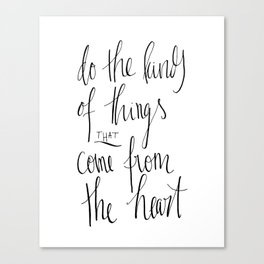 From the Heart Canvas Print