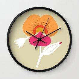 Coral Vine Wall Clock