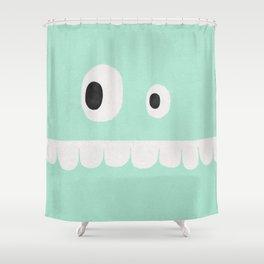Face VI (mint green) Shower Curtain