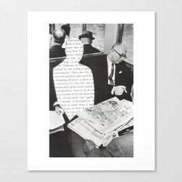 Old News Canvas Print