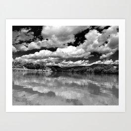 River Sky Art Print