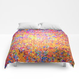 Mosaic-stained glass, abstract, vibrant, colourful Comforters