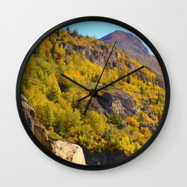 Alaskan Autumn - Painting Wall Clock