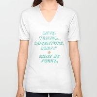 kerouac V-neck T-shirts featuring Kerouac by Ariel Wilson