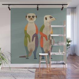 Meerkats Wall Mural