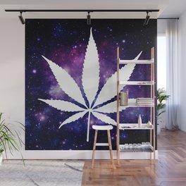Weed : High Times Purple Blue Galaxy Wall Mural