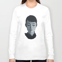 audrey Long Sleeve T-shirts featuring Audrey by yurishwedoff