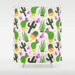 Cactus Pattern of Succulents Shower Curtain