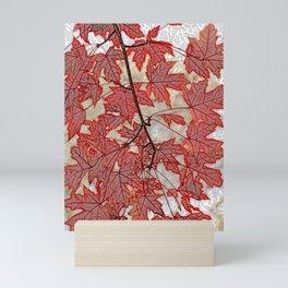 Flame maple Mini Art Print