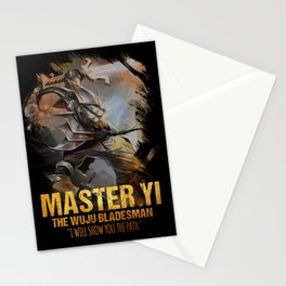 League of Legends MASTER YI - The Wuju Bladesman - video games champion Stationery Cards