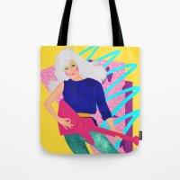 jem Tote Bags featuring Jem by Camila Fernandez